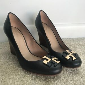 Tory Burch - WORN ONCE - Wood Wedge